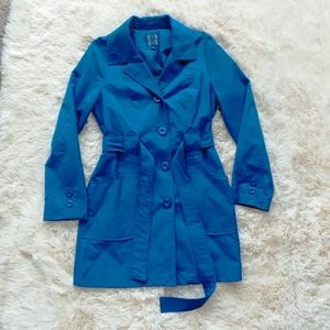 Ambition blue trench raincoat size M